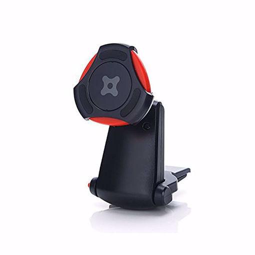 صورة إكسو قير ستاند الهاتف لفتحة مكيف السيارة - أسود