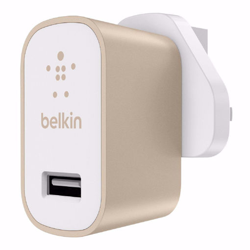 Picture of Belkin Premium Ultra Fast 2.4Amp AC Charger UK - Gold