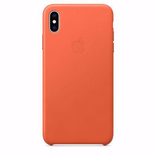 صورة أبل كفر جلد للأيفون إكس إس ماكس - برتقالي