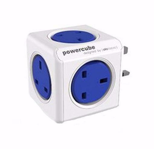 صورة باور كيوب  موزع 5 فتحات للكهرباء - أزرق