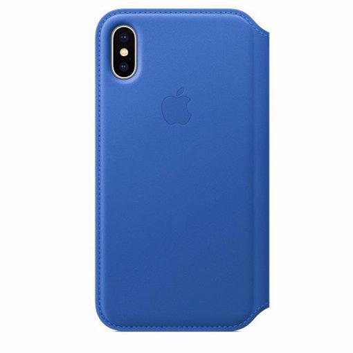 صورة أبل كفر بوك جلد للأيفون إكس - أزرق
