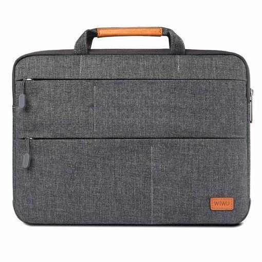 صورة وي وو  حقيبة للماك بوك مقاس 15 بوصة مزود بها استاند للماك بوك - رمادي