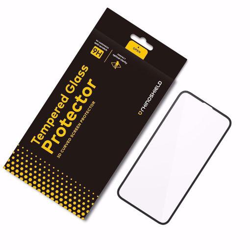 صورة رينوشيلد حماية شاشة للأيفون إكس - شفاف/إطار أسود