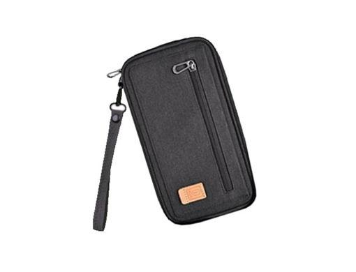 صورة وي وو   حقيبة لجواز السفر والكروت - أسود