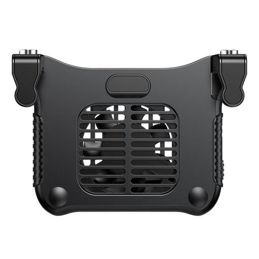 صورة باسيوس يدة تحكم للألعاب وتبريد للموبايل - أسود