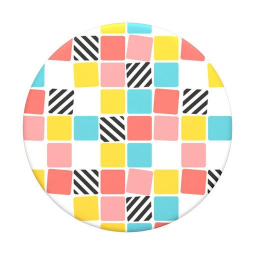 صورة بوب سوكيت  بوب جريب مسكة للموبايل - مربعات ملونة