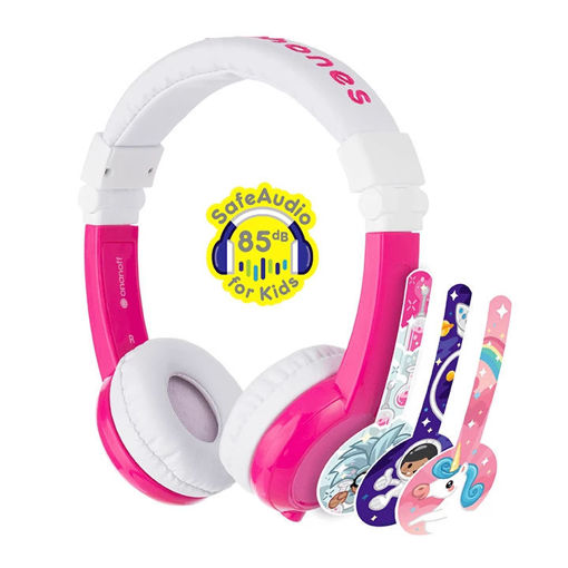 Picture of BuddyPhones Unicorns Explore Foldable with Mic - Pink
