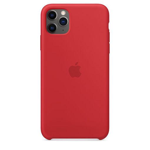 صورة أبل كفر سيليكون للأيفون 11 برو ماكس - أحمر
