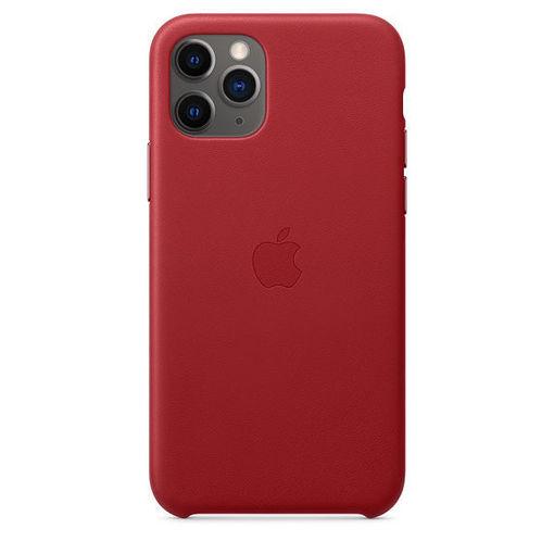 صورة أبل كفر جلد للأيفون 11 برو - أحمر