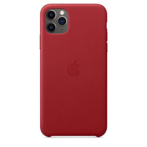 صورة أبل كفر جلد للأيفون 11 برو ماكس - أحمر