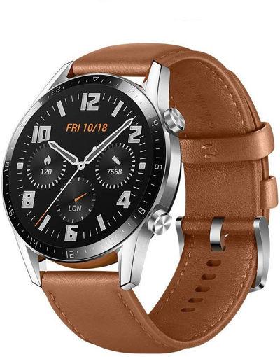 صورة هواوي ساعة ذكية جي تي 2 46 مم أندرويد - جلد بني
