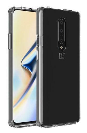صورة إنجيج كفر شفاف الهاتف وان بلس 7 برو + حماية شاشة - شفاف