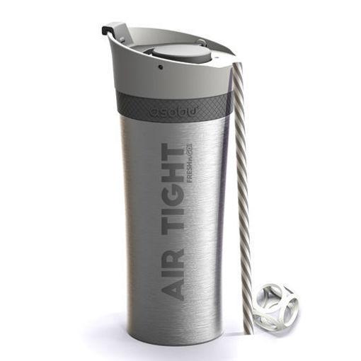 صورة أسوبو كوب لحفظ المياه والمشروبات باردة - رمادي