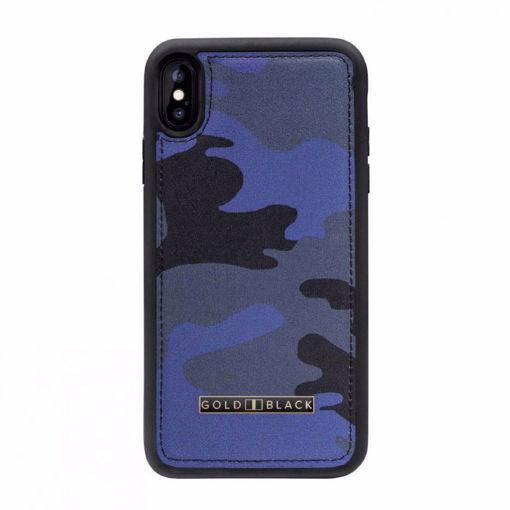 صورة قولد بلاك  كفر للآيفون إكس إس ماكس -  جيشي أزرق