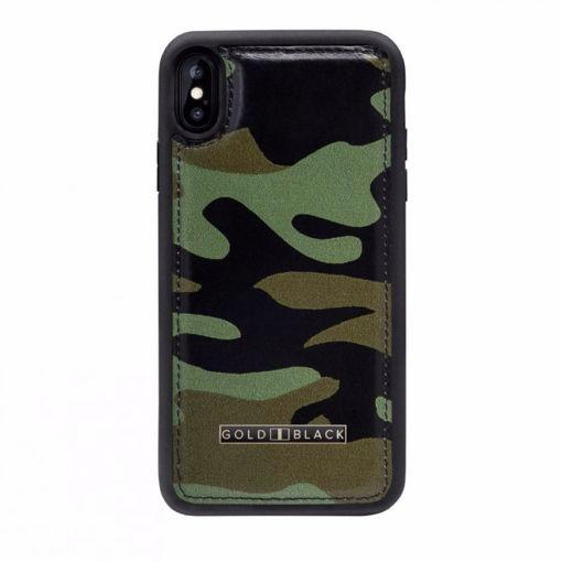 صورة قولد بلاك كفر للآيفون إكس إس ماكس - جيشي/أخضر