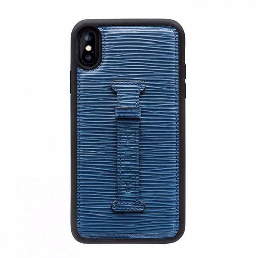 صورة قولد بلاك كفر بمسكة للآيفون إكس إس ماكس - أزرق