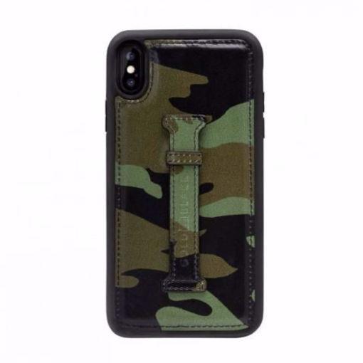 صورة قولد بلاك كفر بمسكة للآيفون إكس إس - جيشي/أخضر