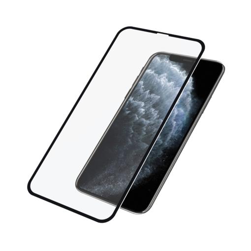 صورة بانزر قلاس  حماية شاشة للآيفون إكس إس ماكس/ 11 برو ماكس  إطار أسود - شفاف