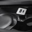 صورة موشي   شاحن سيارة بمنفذين يو اس بي ايه و تايب سي - أسود