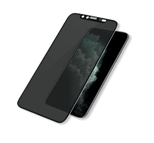 صورة بانزر قلاس حماية شاشة للخصوصية لآيفون إكس إس ماكس/ 11 برو ماكس بغطاء للكاميرا - إطار أسود
