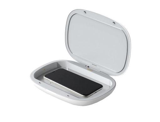 صورة أي ووك جهاز تعقيم للهواتف و شاحن لاسلكي بقوة 10 واط - أبيض
