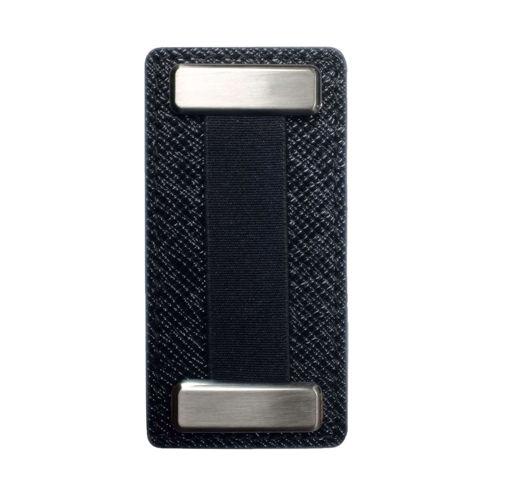 صورة نوبقي مسكة اصبع ميتال للهواتف - أسود/أسود