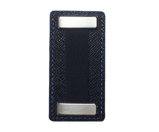 صورة نوبقي مسكة اصبع ميتال للهواتف - أسود/أزرق