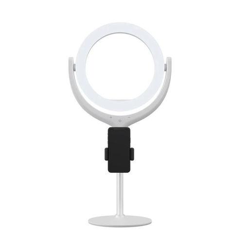 صورة ديفيا ستاند إضاءة مع مكان للهاتف 3 إضاءات مختلفة - أبيض