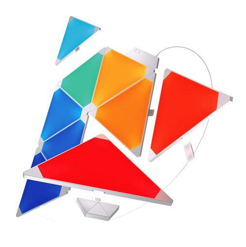 صورة نانوليف ديكور إضاءة 9 قطع تتفاعل مع الموسيقى - مثلث