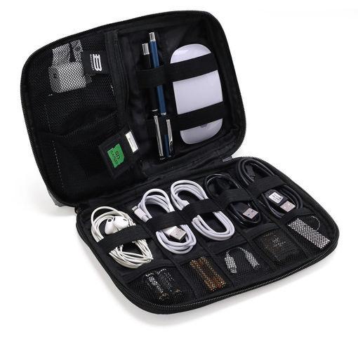 صورة باق سمارت حقيبة لتنظيم الأدوات الإلكترونية - أسود داكن