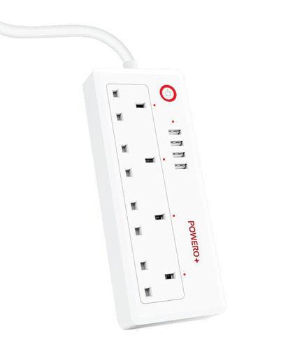 صورة باور أو بلس موزع طاقة ذكي واي فاي - أبيض