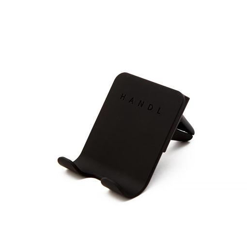 صورة هاندل حامل موبايل لفتحة مكيف السيارة - أسود