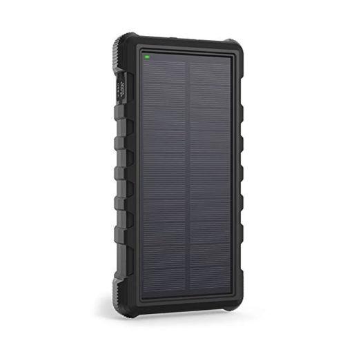 صورة راف باور بطارية متنقلة بسعة 25000 مللي أمبير تشحن بالطاقة الشمسية - أسود
