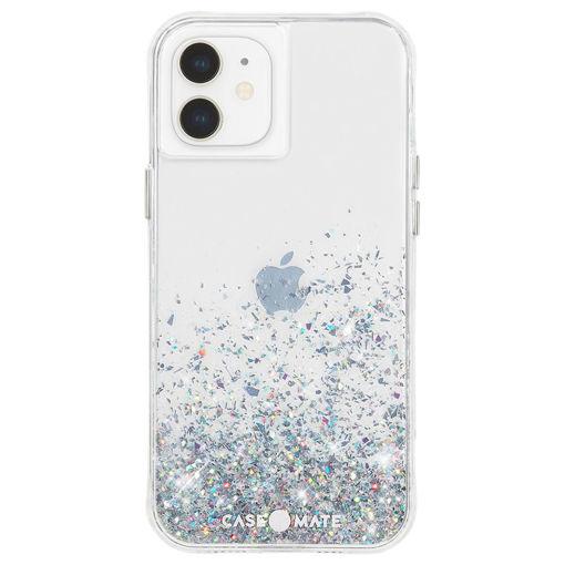 صورة كيس ميت كفر للأيفون 12 ميني - شفاف/جليتر ملون