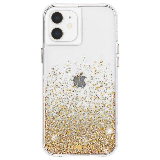 صورة كيس ميت كفر للأيفون 12 ميني - شفاف/جليتر ذهبي