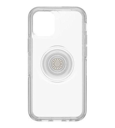 صورة أوتر بوكس سيميتري كفر مدمج به مسكة بوب سوكيت للأيفون 12 ميني - شفاف