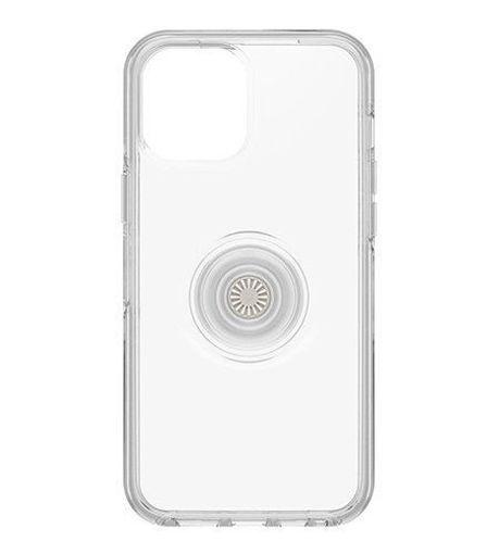 صورة أوتر بوكس سيميتري كفر مدمج به مسكة بوب سوكيت للأيفون 12 برو ماكس - شفاف