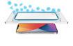 صورة توري حماية شاشة مع طلاء مضاد للبكتيريا للأيفون 12 ميني - شفاف/إطار أسود