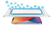 صورة توري حماية شاشة مع طلاء مضاد للبكتيريا للأيفون 12/12 برو - شفاف/إطار أسود