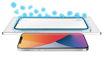 صورة توري حماية شاشة مع طلاء مضاد للبكتيريا للأيفون 12 برو ماكس - شفاف/إطار أسود