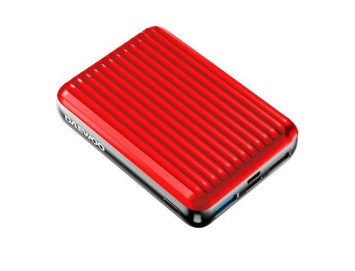 صورة دايو بطارية متنقلة بقوة 10000 مللي أمبير - أحمر