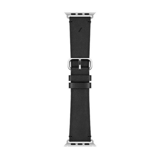 صورة نايتف يونيون سير جلد كلاسيكي لساعة أبل 44/42 مللي - أسود
