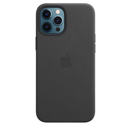 صورة أبل كفر جلد للأيفون 12 برو ماكس - أسود