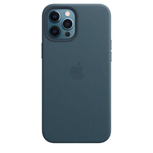 صورة أبل كفر جلد للأيفون 12 برو ماكس - أزرق غامق