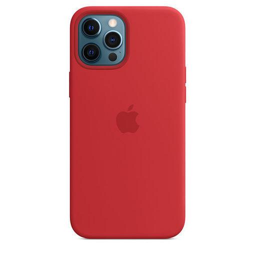 صورة أبل كفر سيليكون للأيفون 12 برو ماكس - أحمر