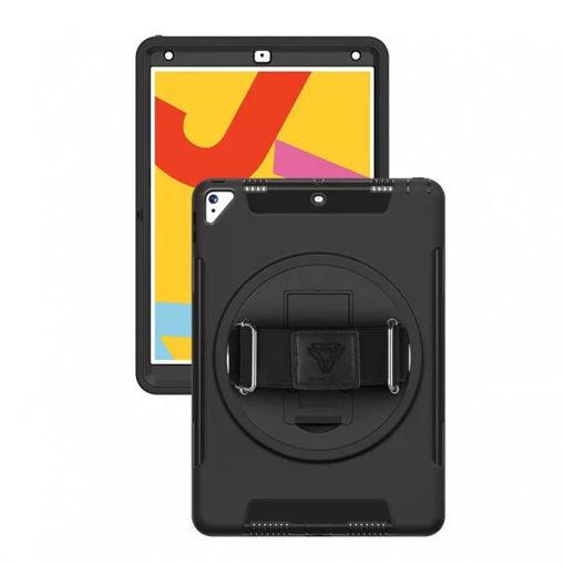 صورة أرمور إكس كفر للأيباد الجيل الثامن 10.2 إنش مع حزام يد وحامل - أسود