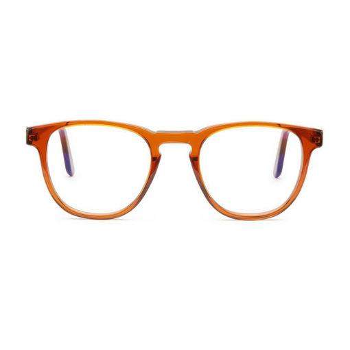 صورة بارنر نظارة لحماية عينيك من الضوء الأزرق الضار - كريستال/بني