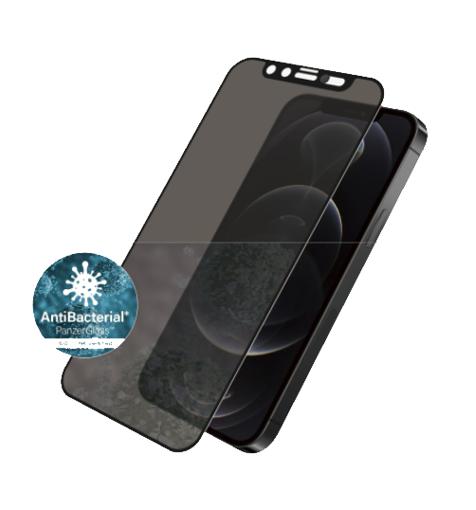 صورة بانرز قلاس حماية شاشة للخصوصية بغطاء كاميرا مدمج للأيفون 12/12 برو - إطار أسود
