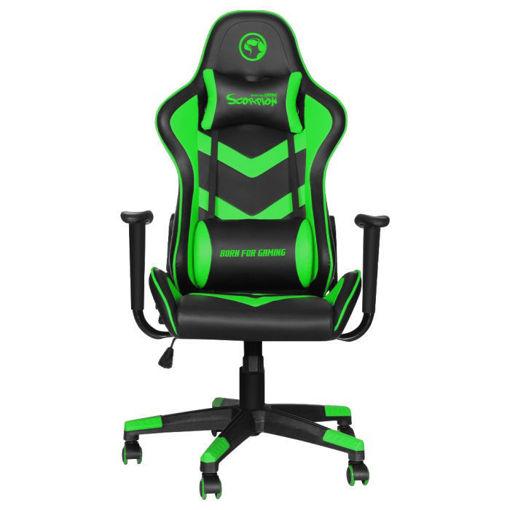 صورة مارفو كرسي للألعاب - أسود/أخضر