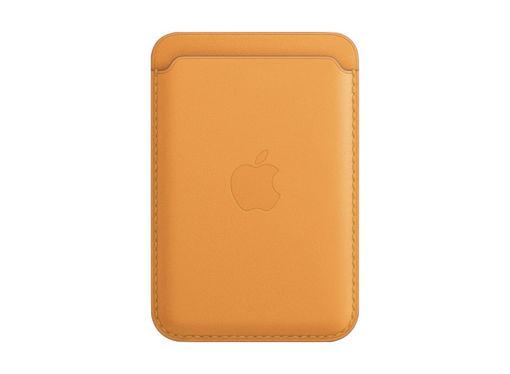 صورة أبل محفظة جلد للأيفون مع ماجسيف - أصفر
